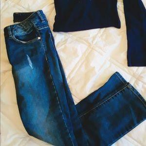 Girls Size 9/10 Jeans & Shirt Combo